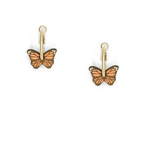Little Butterflies Hoop Earrings