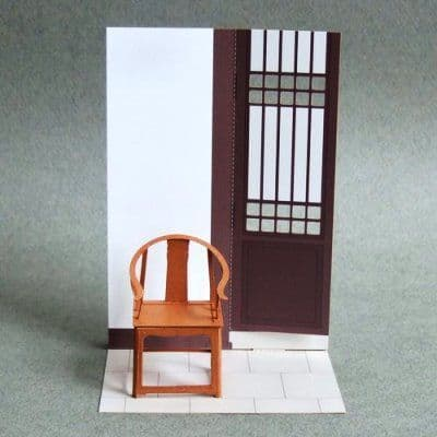 Ming Dynasty chair | paper model kit