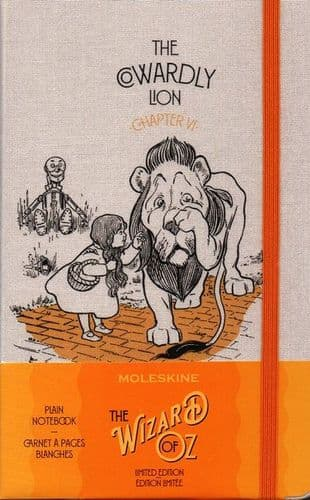 Moleskine Limited Edition Wizard Of Oz Large Plain Notebook: Cowardly Lion Yellow
