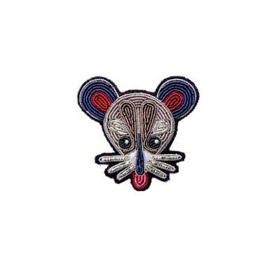 Mouse  Head Brooch