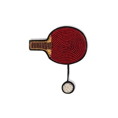 Ping Pong (Table Tennis) Brooch