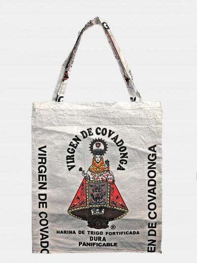 Recycled bag Virgen of Covadonga.