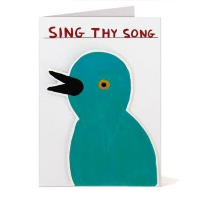 Sing Thy Song Puffy Sticker Card