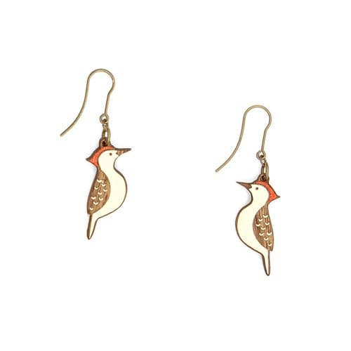Woodpecker Hook Earrings