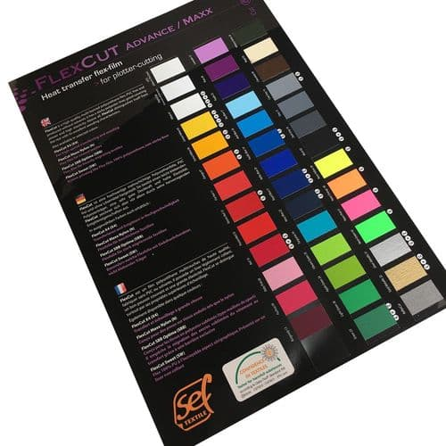 Colour Card for SEF FlexCut and MetalFlex