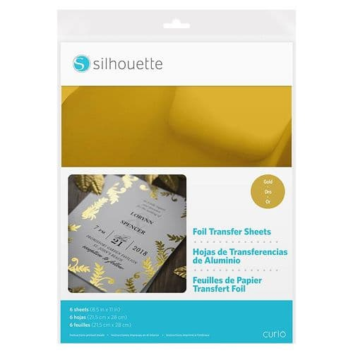 Silhouette Foil Transfer Sheets - Gold, Silver & Copper