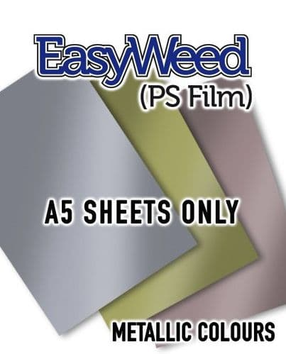 Siser EasyWeed (PS Film) - A5 Sheets  - 3 Metallic Colours