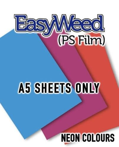 Siser EasyWeed (PS Film) - A5 Sheets - 4 Neon Colours