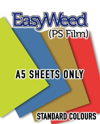Siser EasyWeed (PS Film) - A5 Sheets - Standard Colours