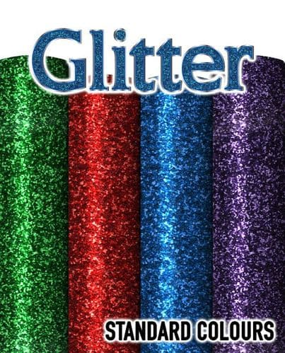 Siser Glitter Flake - A4 & By The Metre - Standard Colours